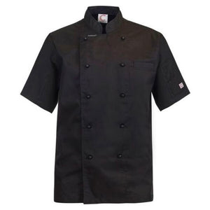 CHEFS CRAFT EXECUTIVE S/S JACKET LIGHT BLACK