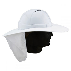 HARD HAT BRIM W/FLAP - WHITE