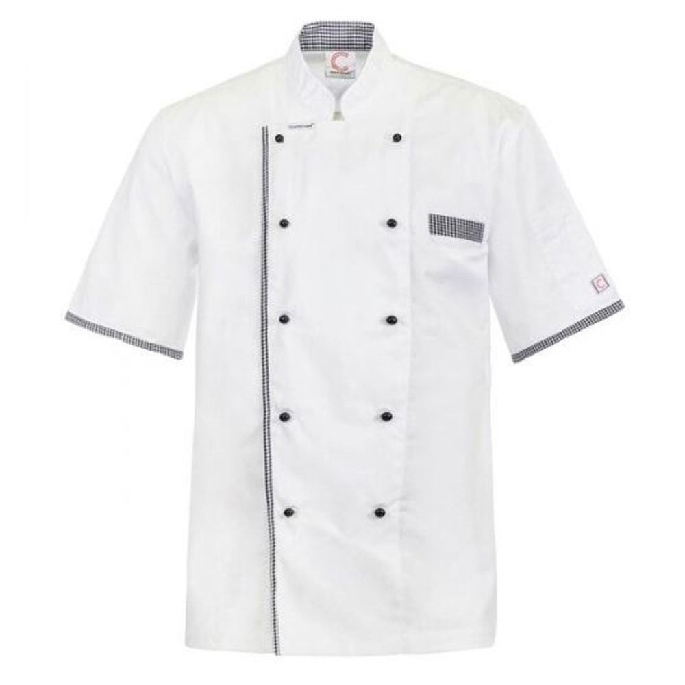 CHEFS CRAFT EXECUTIVE S/S JACKET VENTED BACK - WHITE