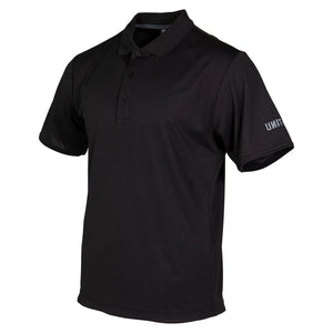 UNIT BOLT POLO SHIRT - BLACK