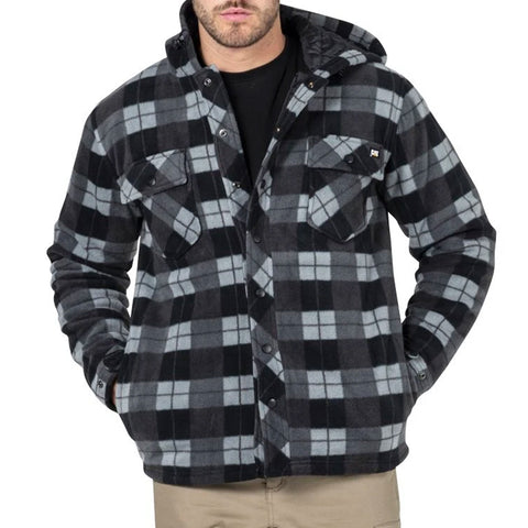 CAT ACTIVE WORK JACKET GREY BLACK PLAID