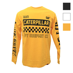 CAT LIMITED EDITION MOTO L/S TEE YELLOW