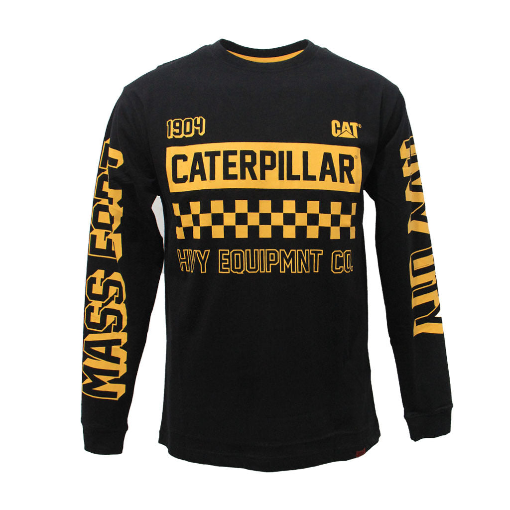 CAT LIMITED EDITION MOTO L/S TEE BLACK