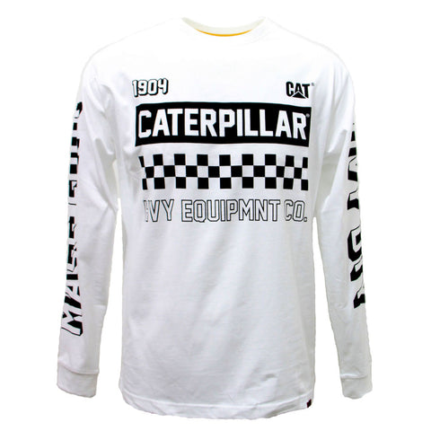 CAT LIMITED EDITION MOTO L/S TEE WHITE