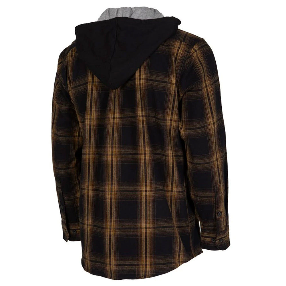 UNIT CHESTER FLANNEL HOODED SHIRT ORANGE