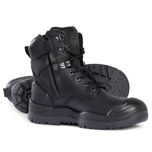 MONGREL BLACK H/LEG ZIP BOOT S/C
