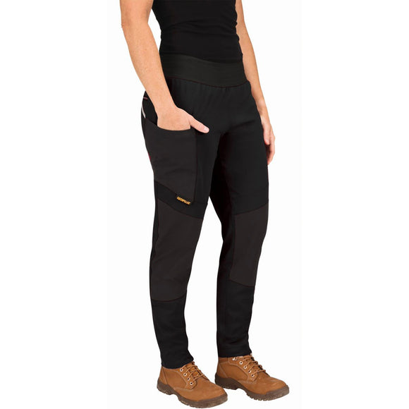 CAT WOMENS WORK STRETCH LEGGINGS BLACK