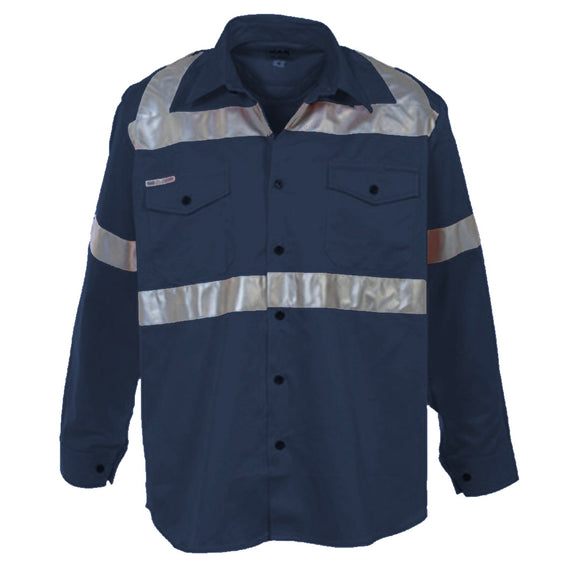 XAX MINDRIL HI-VIS LONGSLEEVE SHIRT - NAVY (Promo Deal, please read description for conditions)