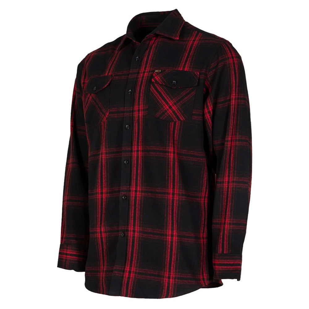 UNIT NEWTOWN FLANNEL SHIRT RED