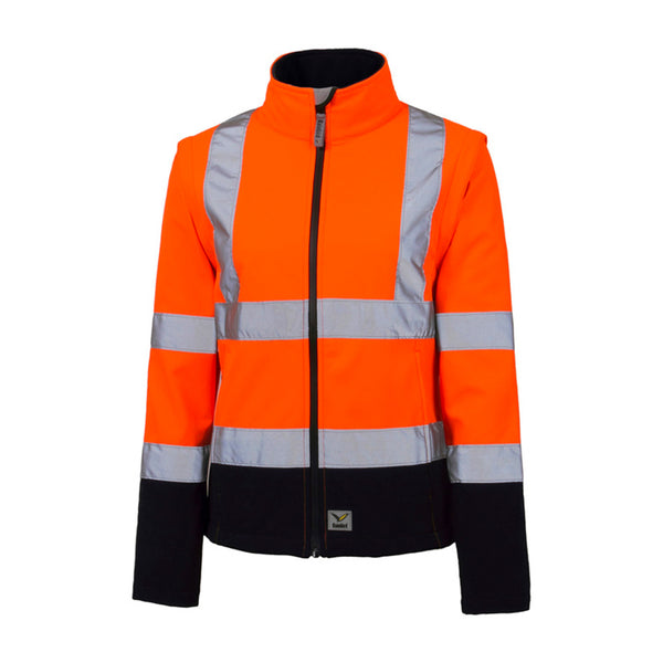 RAINBIRD CARROLL WOMENS SHELL JACKET ORANGE/NAVY