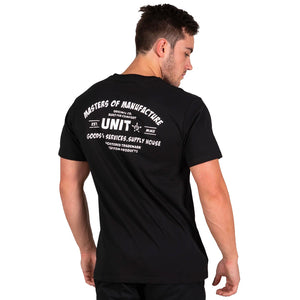 UNIT SERVICE SS TEE BLACK