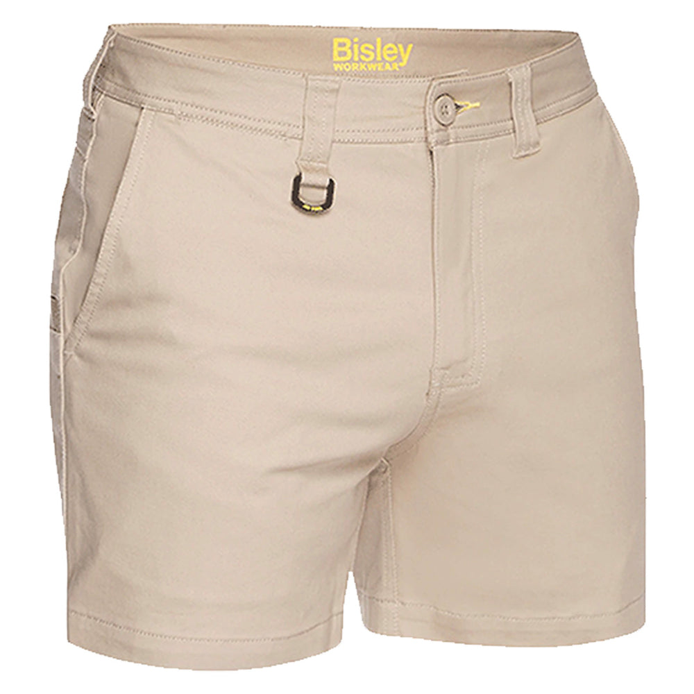 BISLEY STRETCH COTTON SHORT SHORTS REGULAR FIT STONE