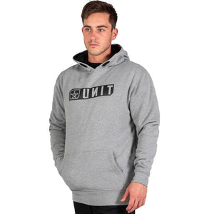 UNIT STRIDE FLEECE HOODIE GREY MARLE