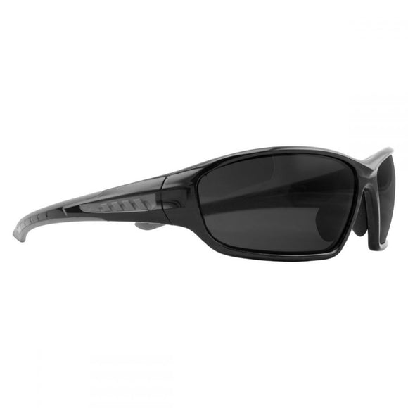 TRACKSIDE POLARISED SAFETY GLASSES - BLACK