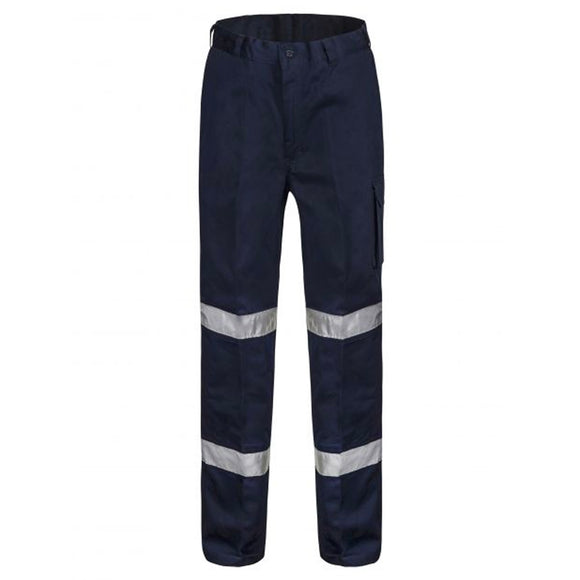 WORKCRAFT MIDWEIGHT MODERN FIT CARGO LONG PANTS NAVY