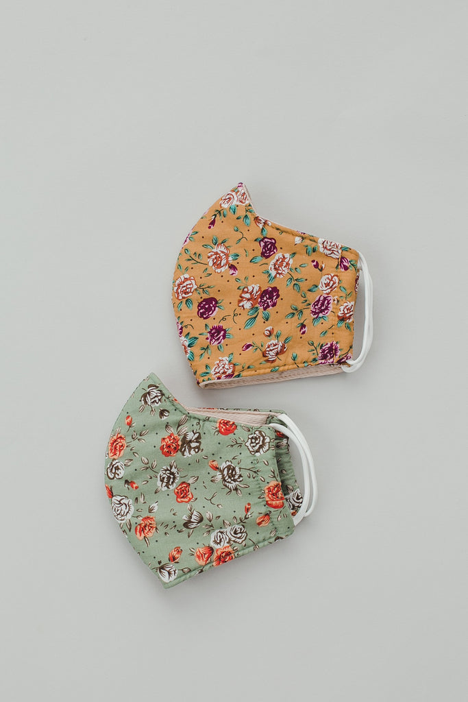 Boutique Masks - Sage Floral