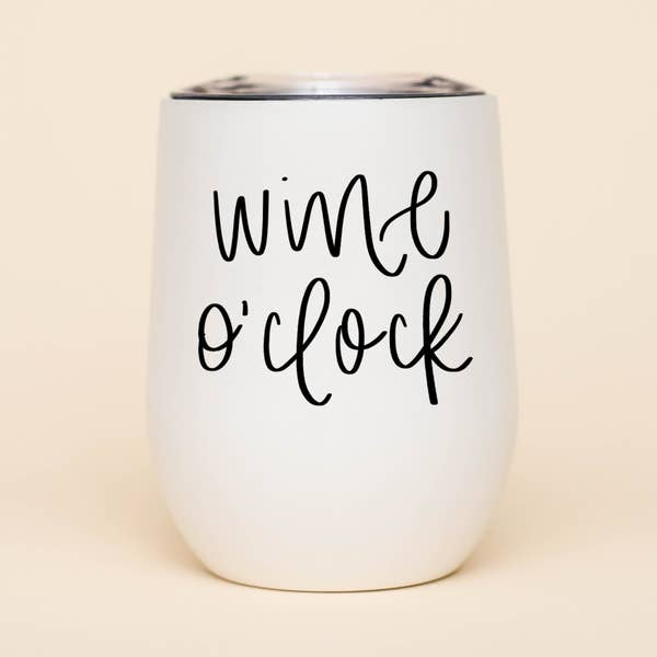 Wine O'Clock Wine Metal Wine Tumbler