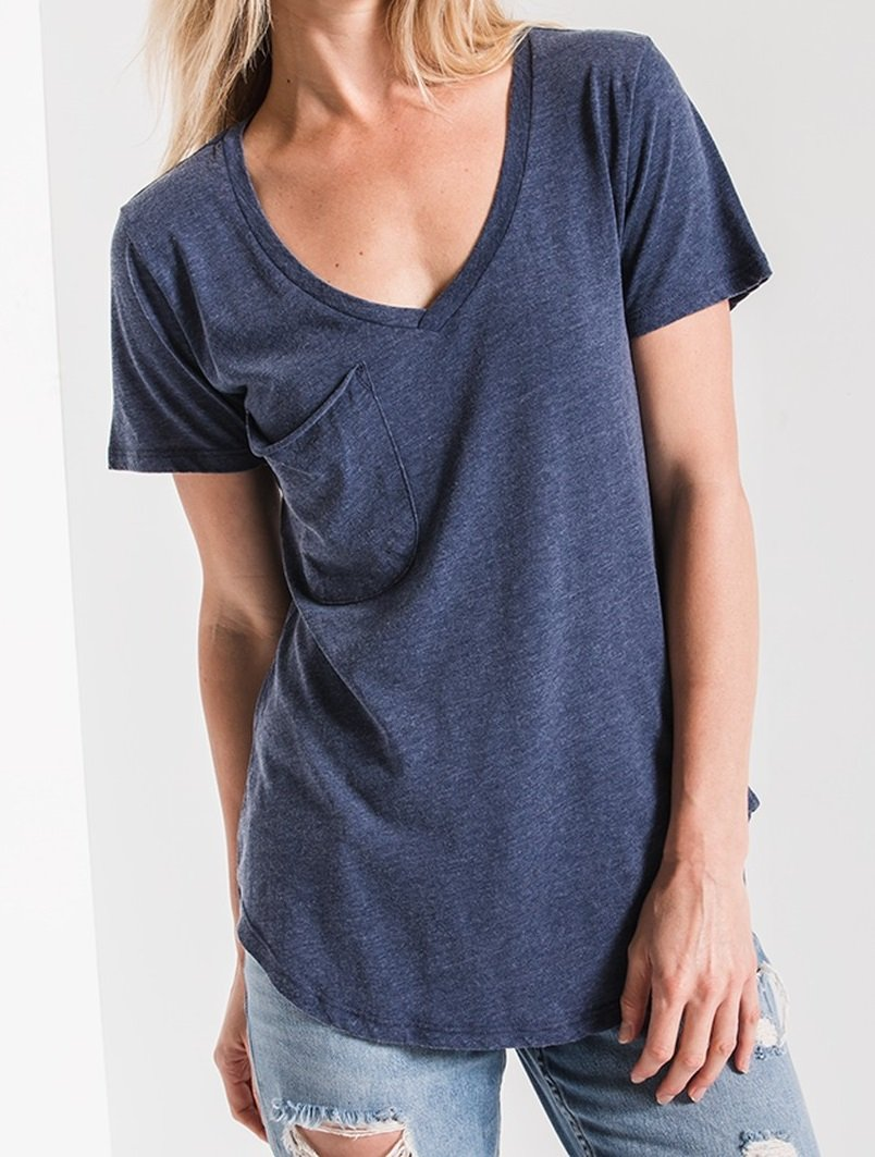 Z Supply Pocket Tee - Navy Iris
