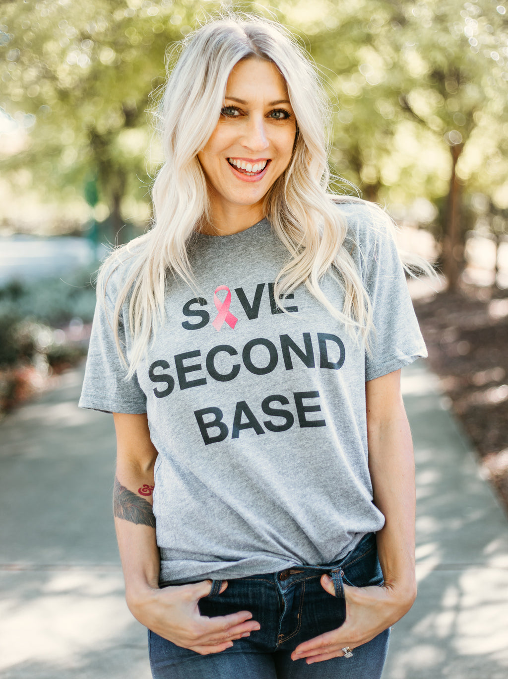 Awareness Second Base Tee