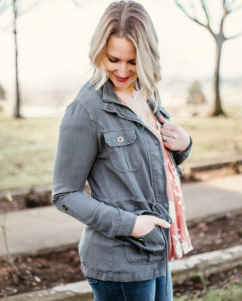 Allie Jacket- Grey