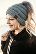 Solid CC Pony // Messy Bun Beanies - All colors