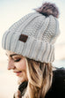 Solid CC Pom Beanies - All colors