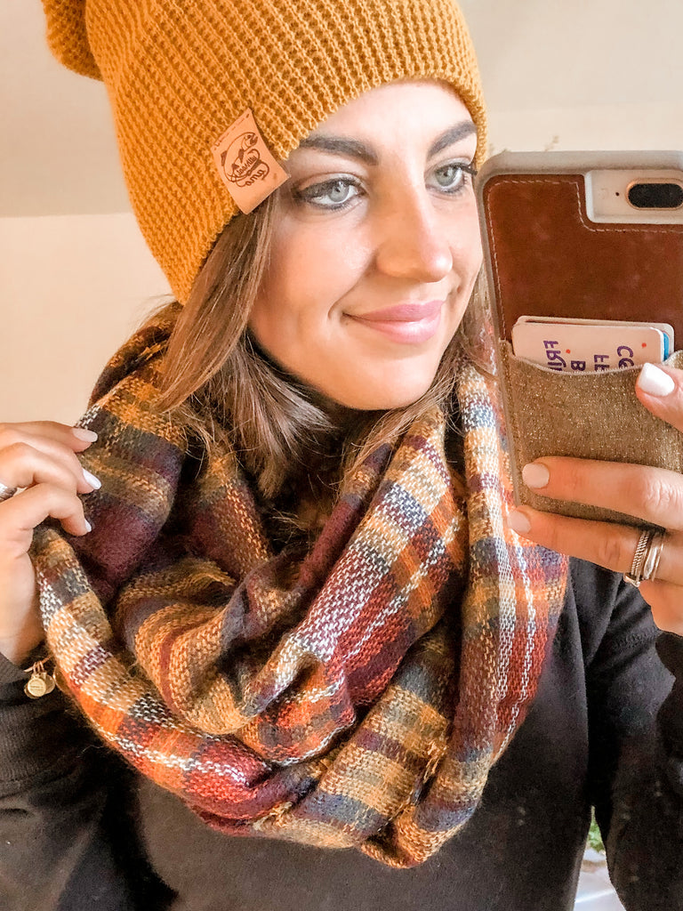 Favorite Infinity Scarf - Coffee Date