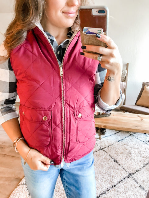 Revvy (Reversible) Vest - Wine