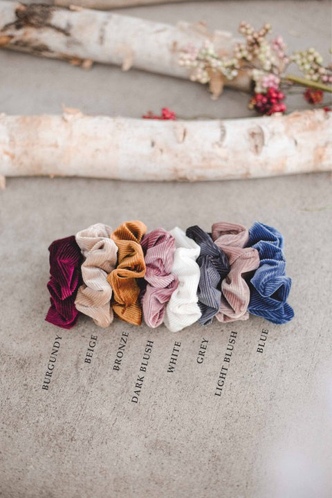 Ribbed Basic Scrunchies