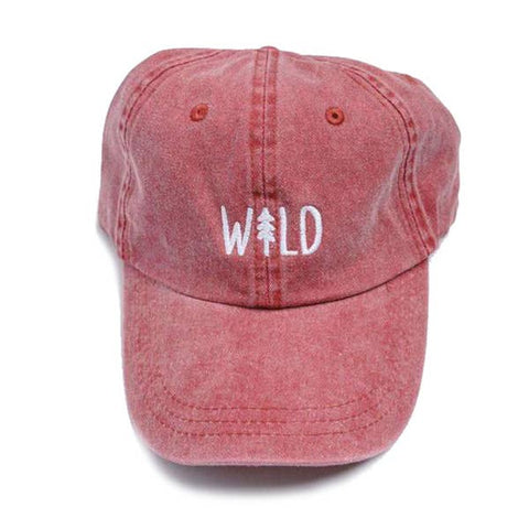 Wild Pine Dad Hat - Berry