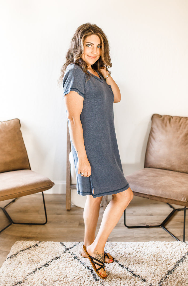 Erin Dress- Navy