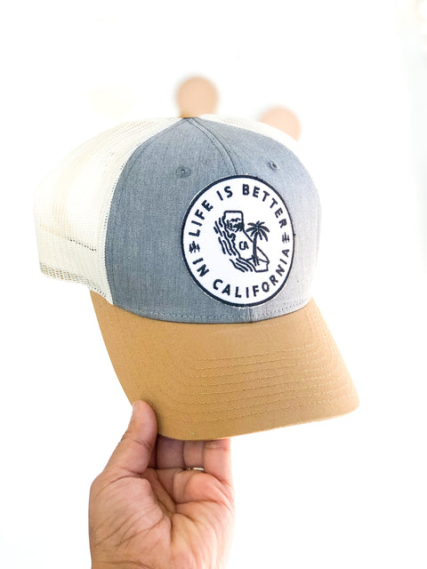 Life is Better Cali Trucker Hat
