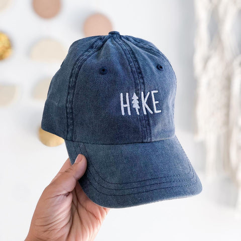 Hike Pine Dad Hat - Faded Navy