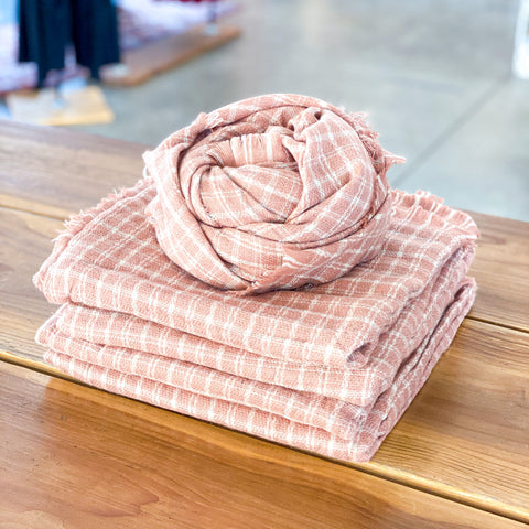 Pink Plaid Scarf - 100% of Proceeds Donated