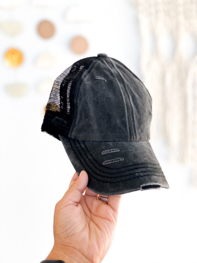 CC Pony Hat - Black