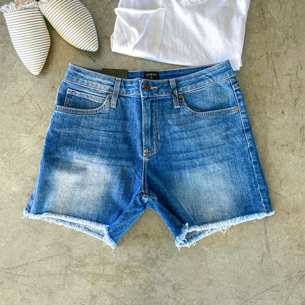 Scarlet Cutoffs - Medium Wash