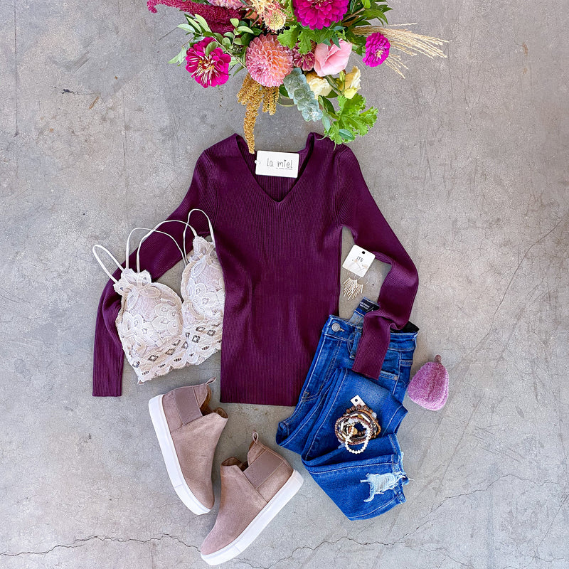 Ava Sweater - Plum