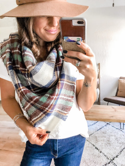 Favorite Blanket Scarf - Cranberry