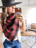 Favorite Blanket Scarf - Black & Red