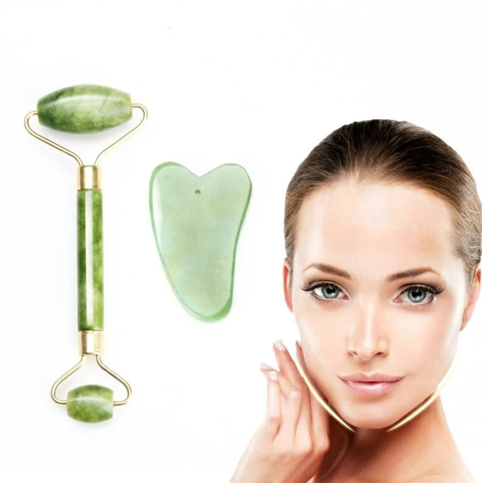 Genuine Dual Jade Roller Face Massager - Paul's Mall for All