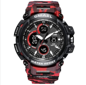 S Shock Rugged Camo Multi-Function LED Digital Men's Wrist Watch - Paul's Mall for All