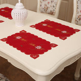 4-Piece Table Place Mat Santa Claus Bell Christmas Decorations Kitchen Dining Pads - Paul's Mall for All