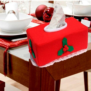Christmas Holiday Themed Tissue Kleenex Box Cover - Paul's Mall for All
