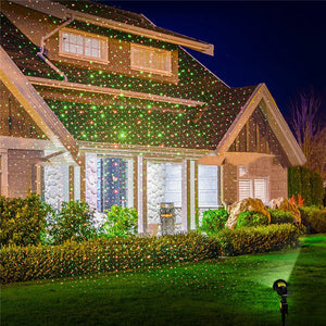 Outdoor Christmas Laser Projector for Garden Lawn Waterproof Decorative Lamp - Paul's Mall for All
