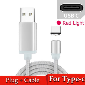 """Smart Swivel"" LED Magnetic Mobile Phone Fast Charge Cable Universal Compatibility - Paul's Mall for All"