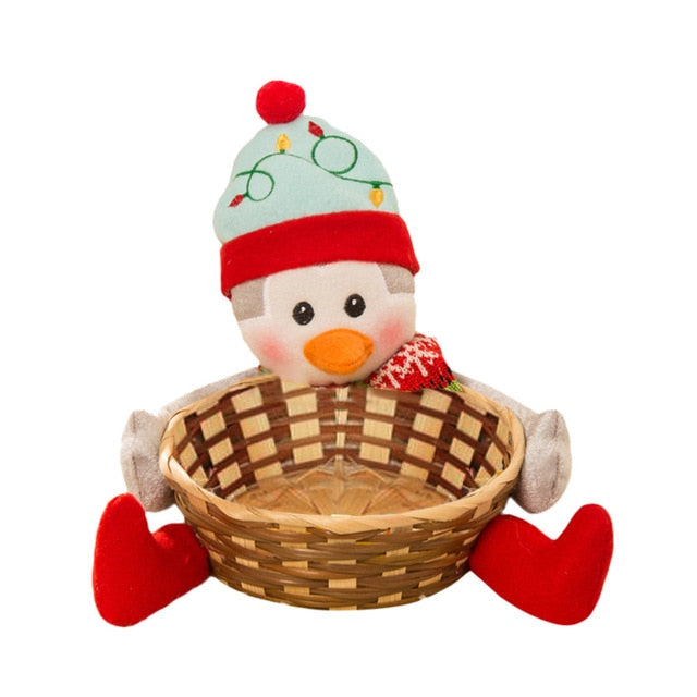 Cute Bamboo Christmas Decorative Candy Storage Basket in 3 available styles - Paul's Mall for All