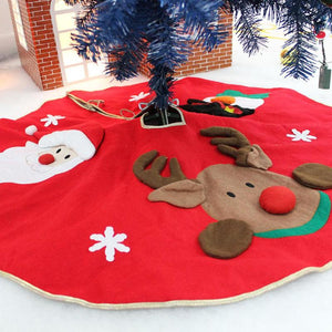 Vibrant Embroidered Christmas Tree Skirts in multiple styles and sizes - Paul's Mall for All