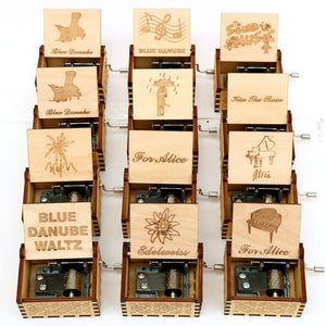 Cute Wooden Carved Miniature Hand-Cranked Music Box featuring 24 different variations - Paul's Mall for All