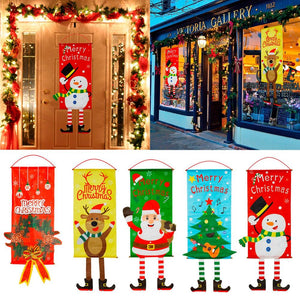 Large Christmas Themed Hanging Door Banner and Flags with 14 styles to choose from - Paul's Mall for All