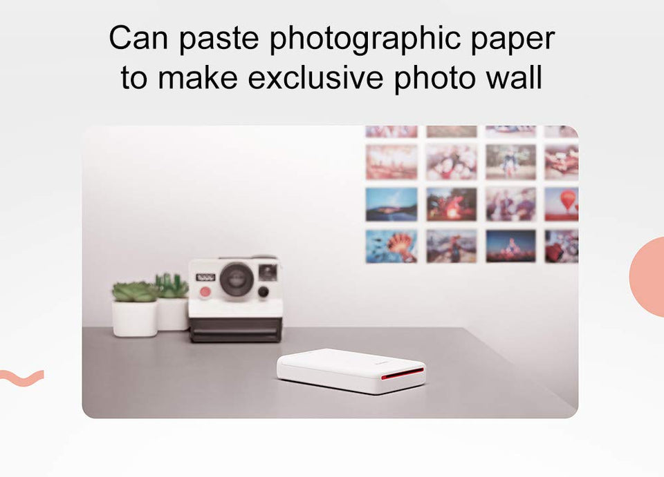 Portable Pocket Sized Bluetooth Enabled Mobile Photo Printer Huawei AR 300 dpi - Paul's Mall for All